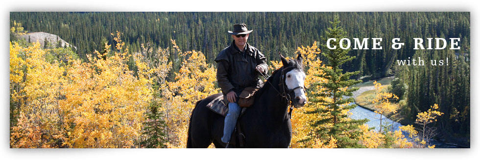 Come horseback riding in the Yukon with us!